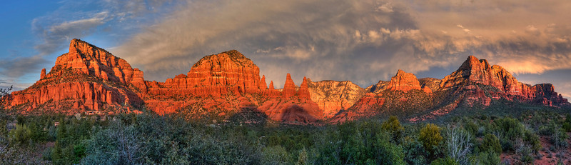 "Stormy Sunset in Sedona. 59"" x 15"""