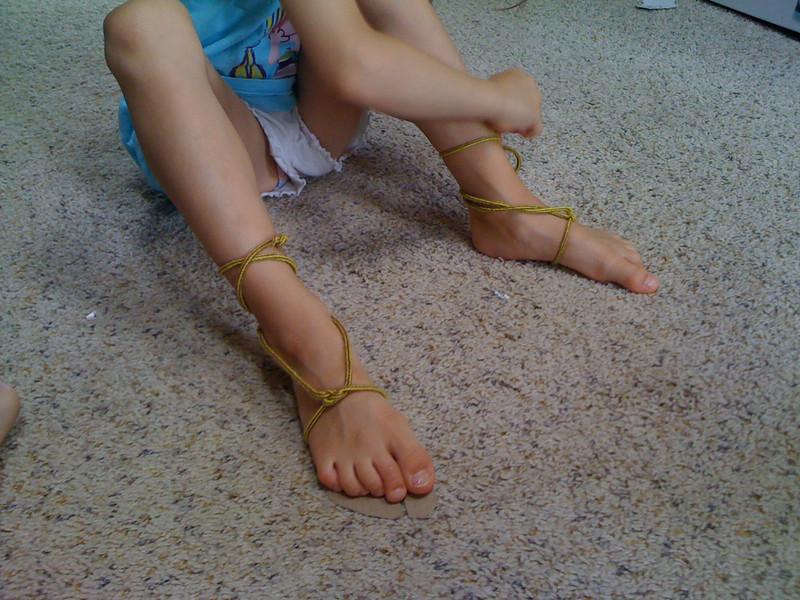 Cardboard Egyptian sandals