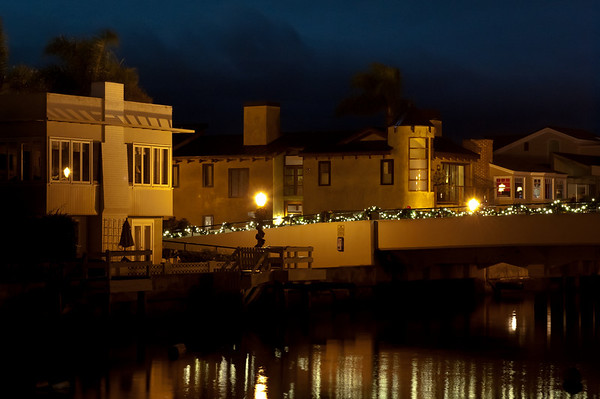 Balboa Island Grand Canal November Evening