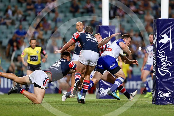 NRL. CANTERBURY BANKSTOWN BULLDOGS V SYDNEY ROOSTERS. ROUND 2, 2018