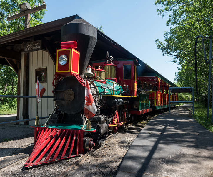 DAVID LIPNOWSKI / WINNIPEG FREE PRESS  The Assiniboine park railroad opens for the season after being delayed Friday July 13, 2018.
