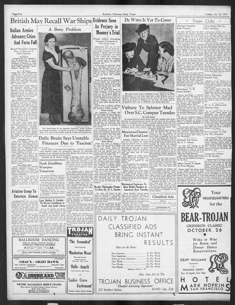 Daily Trojan, Vol. 27, No. 23, October 22, 1935
