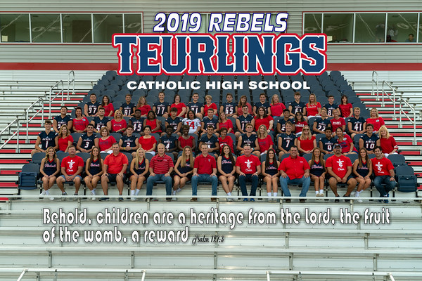 2019 TCH Cheer/Dad and Football/Mom team picture