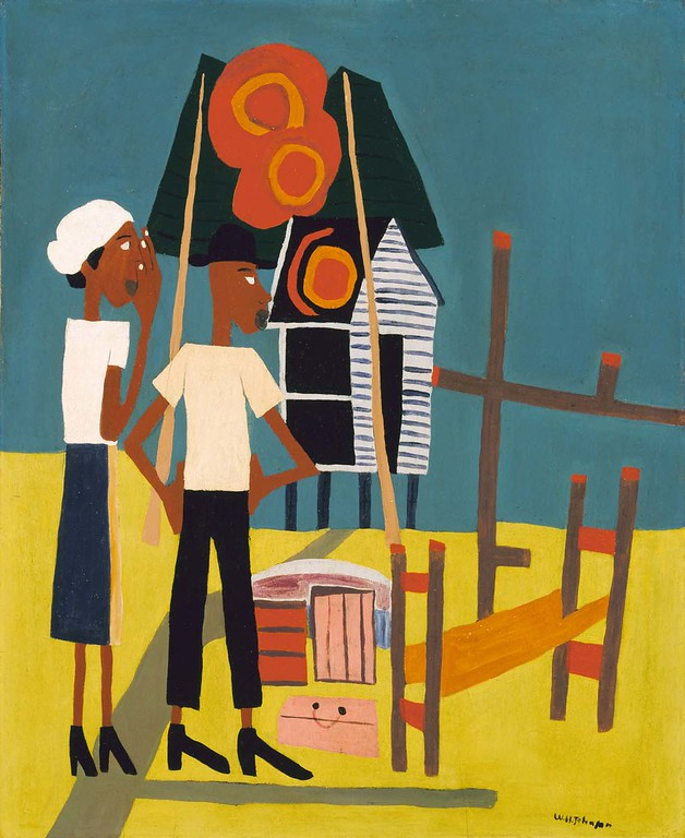 """William H. Johnson, """"Burned Out"""" (ca. 1943)"""