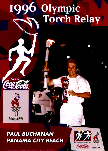 Olympic Torch Relay 1996 @ Panama City Beach - Paul Buchanan