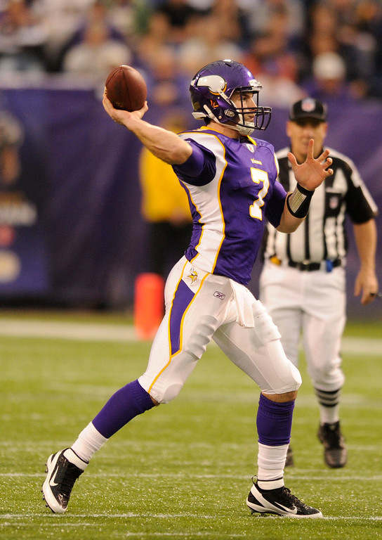 . Christian Ponder, Florida State Selected 12th overall by the Vikings in 2011 Ponder�s Vikings went 10-6 and made the playoffs in 2012. However, Ponder�s limitations were often on full display; his second season, Ponder averaged just 9.8 yards per pass completion, and passed for just 2,935 yards in 16 starts. GRADE: C-. Will always be reliant on a superstar running back to succeed in the NFL. (Photo: John Leyba, The Denver Post)