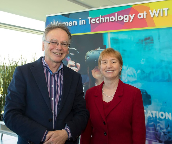 8/3/2018Image Free to UseWaterford Institute of Technology celebrate international women's day.Be brave in the choices you make – secondary school students hear on International Women's Day Willie Donnelly WIT president and Regina Moran Fujitsu Ltd speaker.Photo;Mary Browne