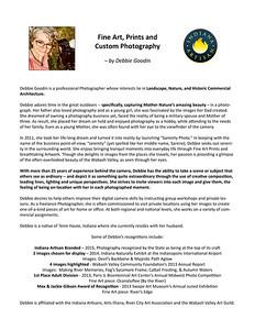 Artist's Biography & Statement
