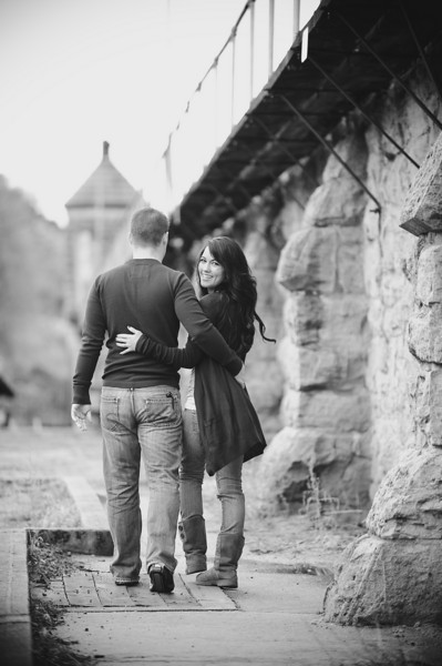 Jackie and Eric's Engagement Portrait Gallery at The Old Idaho State Penitentiary in Boise, by All Outdoor Photography.