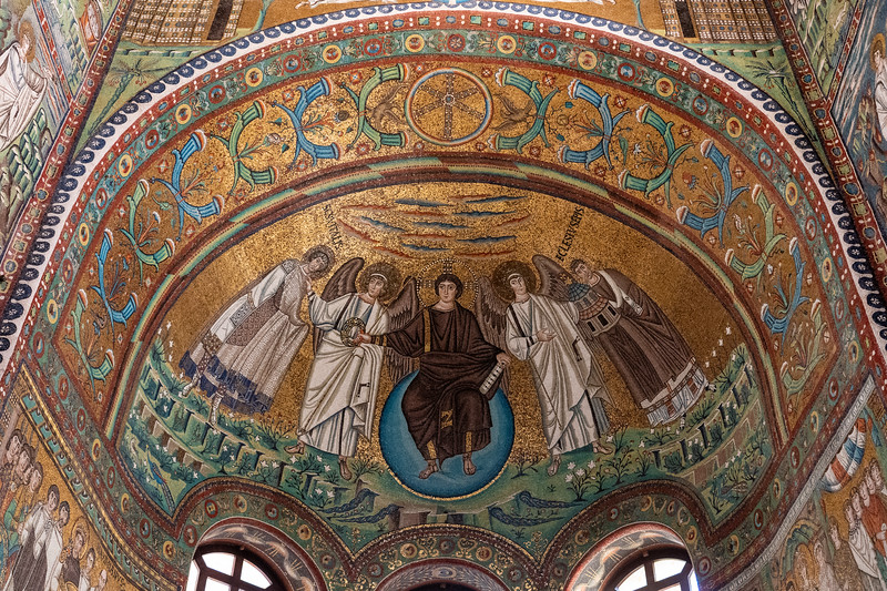 Mosaic in the Basilica of San Vitale in Ravenna