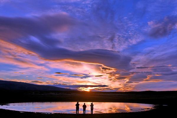 Lever de soleil sur Lago