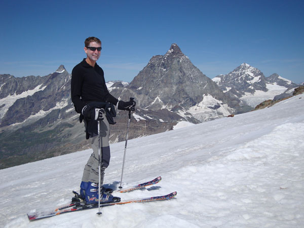 I settled for something easier - a spot of summer skiing at nearly 4,000 m. Even there it was warm.