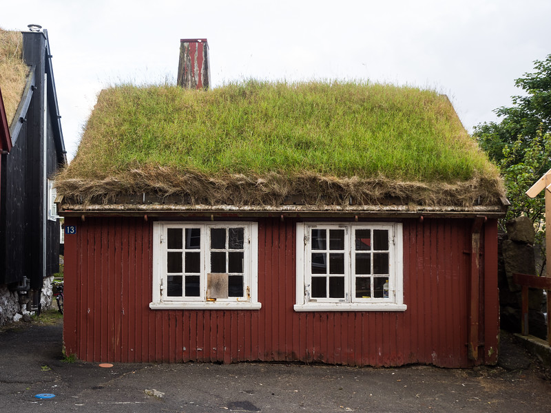 A cute little house, fit for a Hobbit, in the old part of Tórshavn.