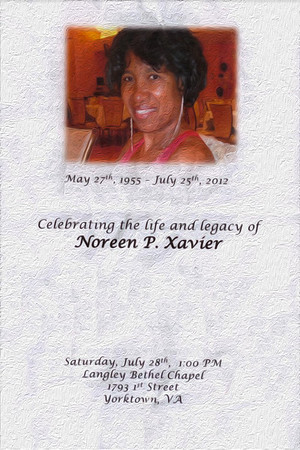 Celebrating the life & legacy of Noreen P. Xavier
