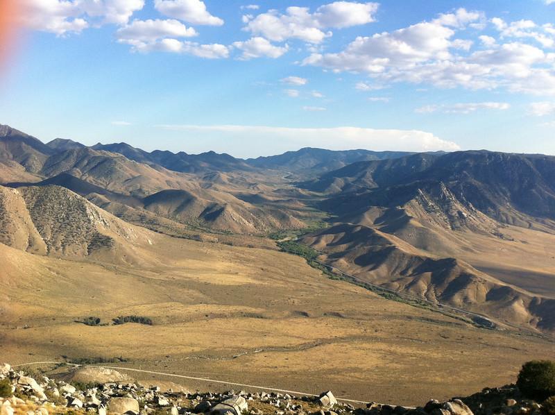 Parallel Benchmark summit view.  Looking towards Walker Pass.