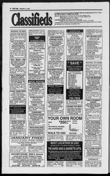 Daily Trojan, Vol. 119, No. 1, January 12, 1993