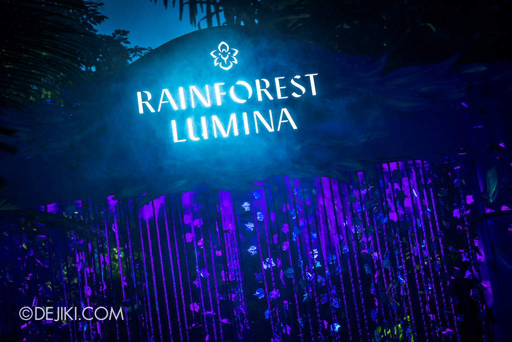 Singapore Zoo Rainforest Lumina - entrance