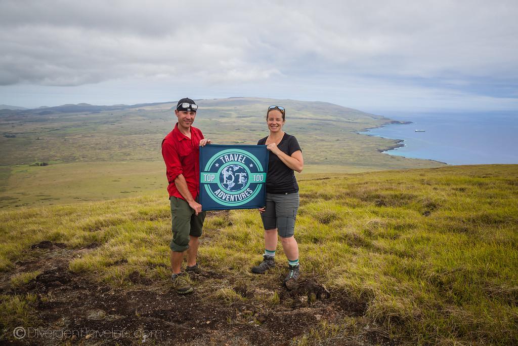 Rapa Nui National Park Easter Island - Poike Volcano - America's Adventure Travel Couple -