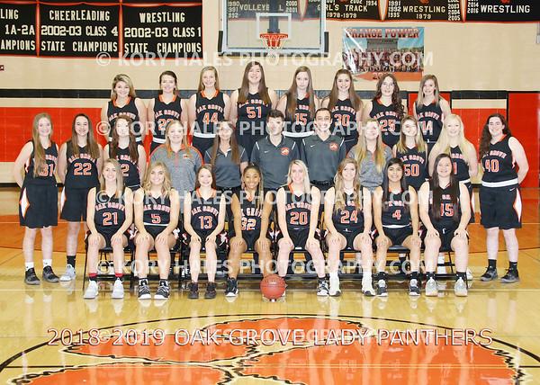 2018-2019 OGHS Girls Basketball
