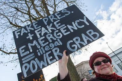 #FakeNationalEmergency protest in Ashland