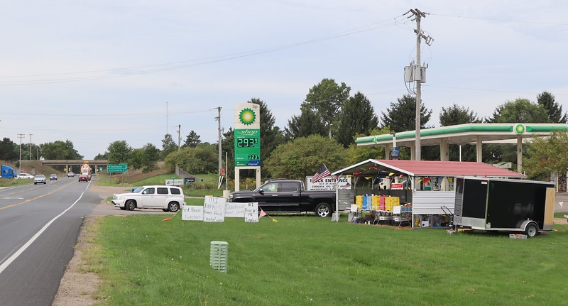 BP station on D Avenue, near US-131 interchange