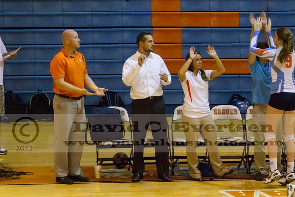 Edgewater Eagles @ Boone Girls Varsity Volleyball - 2012