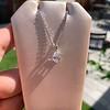 1.11ct Pear Shape Diamond Pendant GIA E VVS2 28