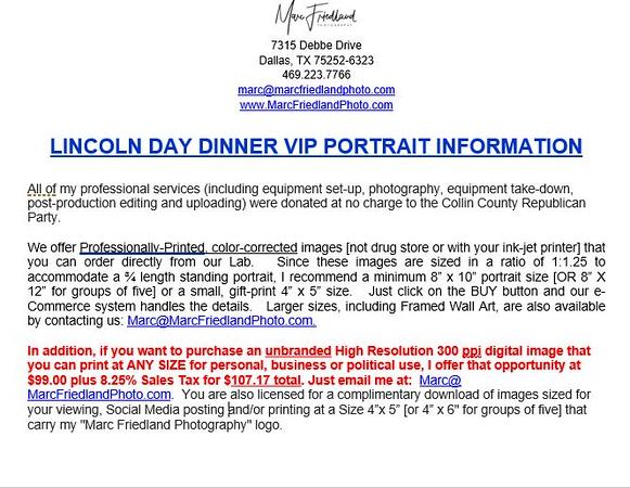 2020 LINCOLN DAY DINNER VIP PORTRAIT INFORMATION.JPG