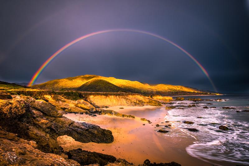 Malibu Epic Rainbow Sunset