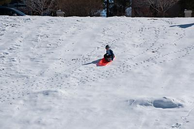 Sledding Skateboard Hill 2.15.2020