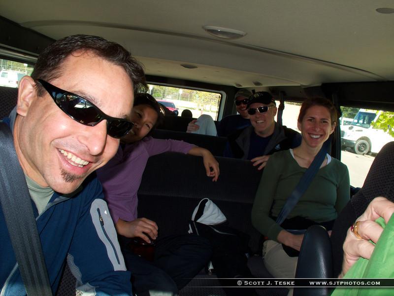 Heading up in the van...