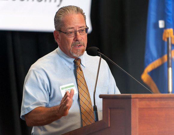 07/02/18 Wesley Bunnell | Staff Former New Britain Chamber of Commerce President Tim Stewart speaks at an event last year.