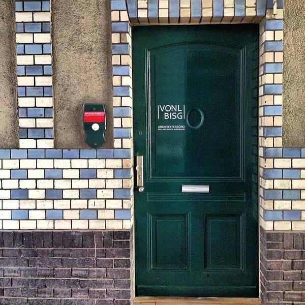 Favorite doorway candidate #28. Checkered glazed tile, turn of the century fabrik (factory) style. Berlin #Kreuzberg