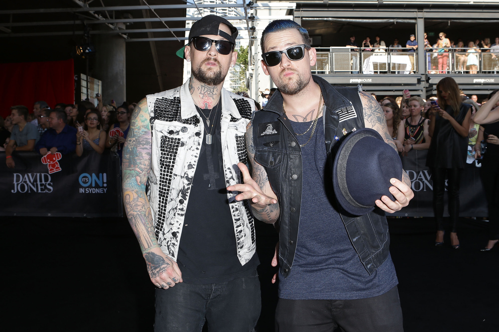 . Benji Madden and Joel Madden arrive at the 26th Annual ARIA Awards 2012 at the Sydney Entertainment Centre on November 29, 2012 in Sydney, Australia.  (Photo by Brendon Thorne/Getty Images)