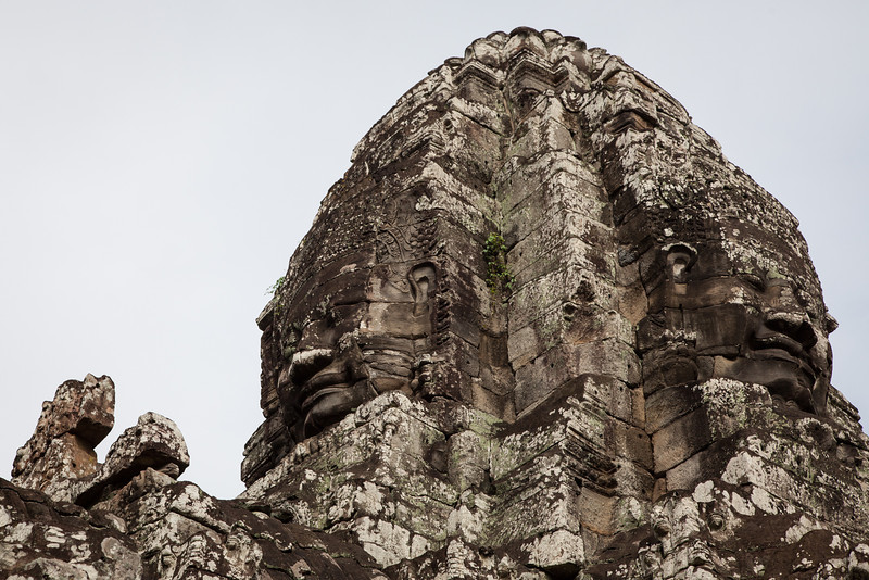 One of the towers showing two faces at Bayon. The faces are said to be that of King Jayavarman VII.