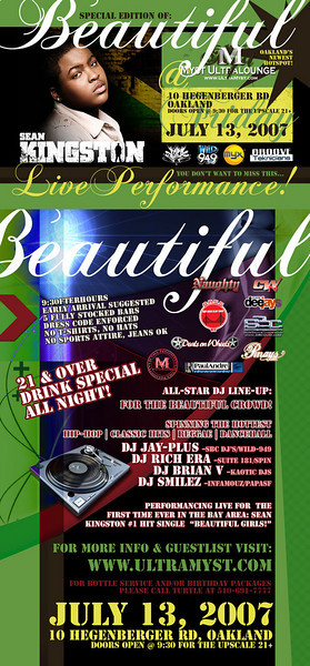 Clubworks Presents Beautiful ft. Sean Kingston @ Myst 7.13.07