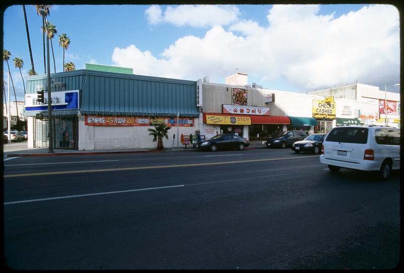 Commercial strip along West 6th Street and Western Avenue, Los Angeles, 2004