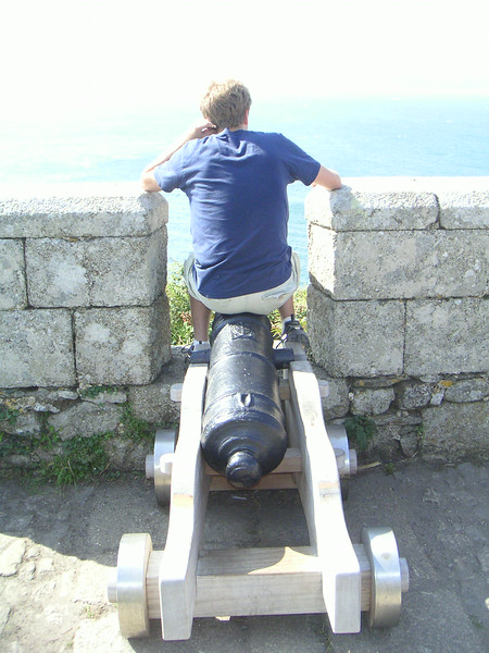 18 Sitting on a Cannon.JPG