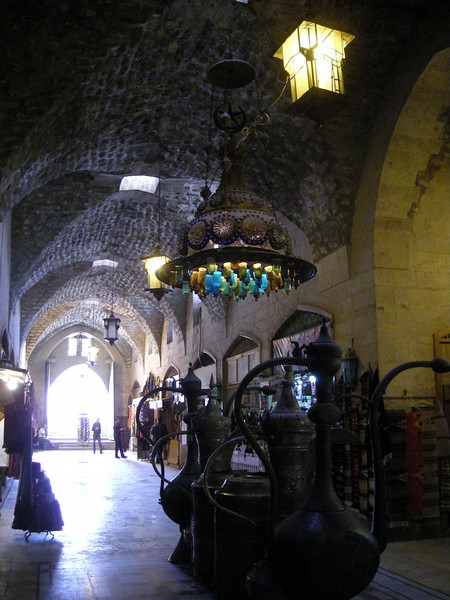lighting in the old Aleppo souqs