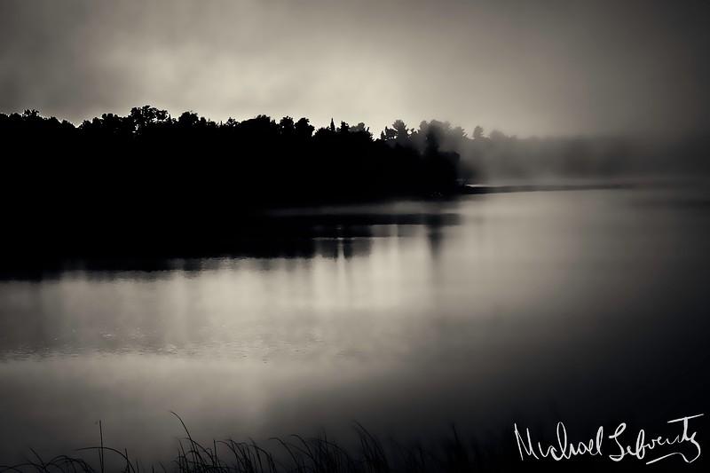 sunrise on  the river bw.jpg