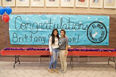 Americas High School Vivian Frescas and Brittany Santellanes signing