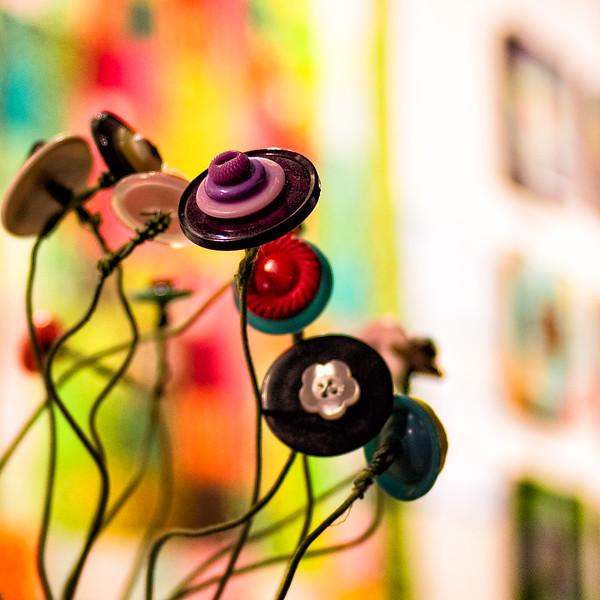 Grandma's Button Flowers