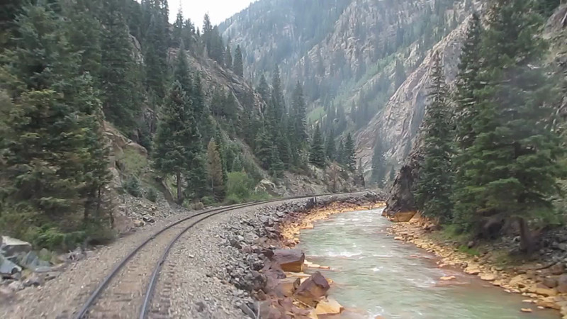 Riding the Durango & Silverton Narrow Gauge Railroad round trip Durango to Silverton Mini Movie