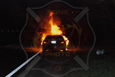 South Farmingdale F.D. Car Fire on the S.S. Pkwy. Westbound between 31-32 3/31/09