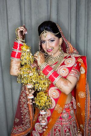 Priyanka & Aman getting ready Wedding day