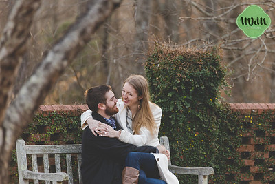 Eileen & Jordan | A Cold & Snuggly Winter Engagement at the State Botanical Gardens of Georgia