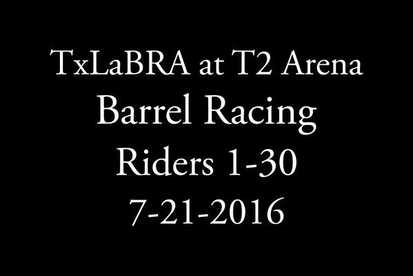 7-21-2016 TxLaBRA  Riders 1-30