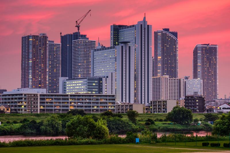 Kawasaki skyline. Editorial credit: Sean Pavone / Shutterstock.com
