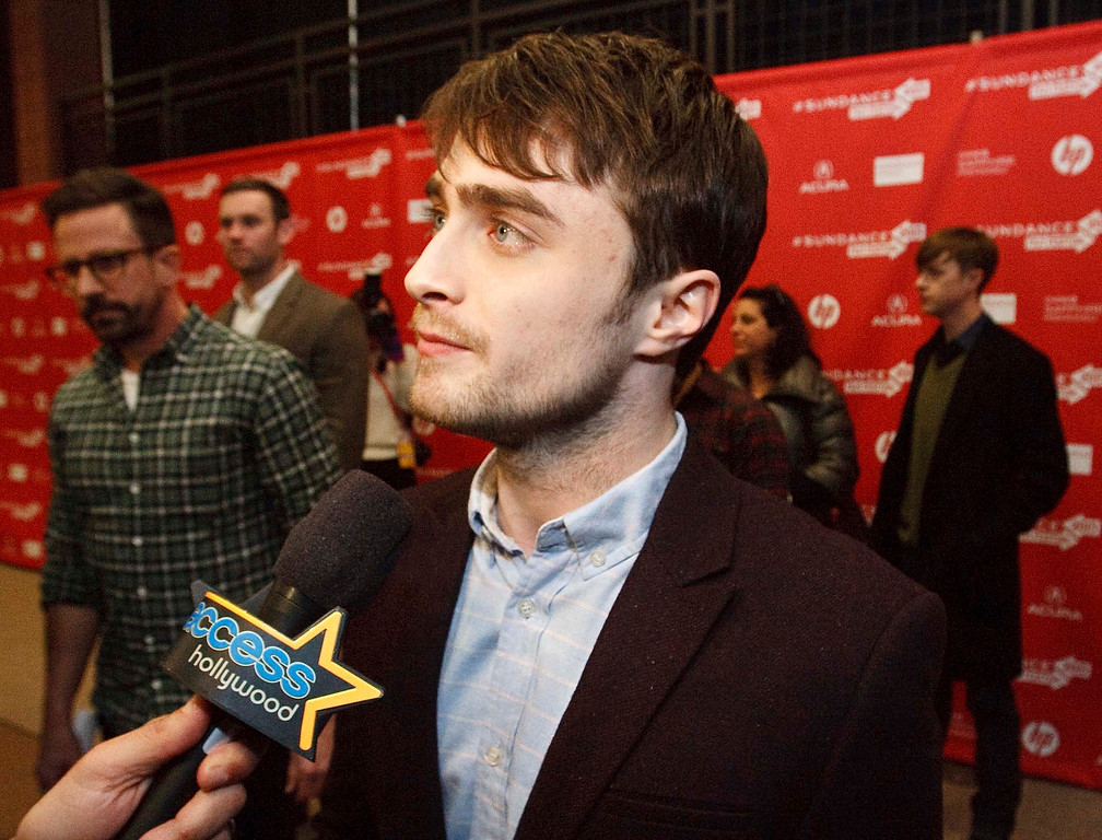 ". Daniel Radcliffe fields questions from the media before the premiere of ""Kill Your Darlings\"" at The Eccles Theatre screening venue during the 2013 Sundance Film Festival, Friday January 18, 2013. Leah Hogsten  