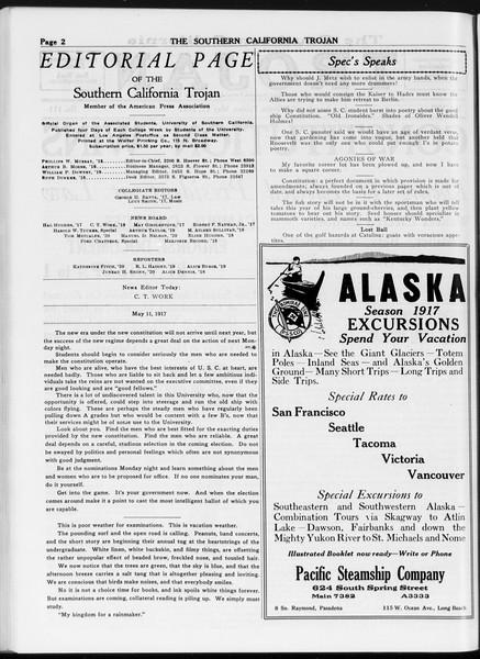 The Southern California Trojan, Vol. 8, No. 111, May 11, 1917
